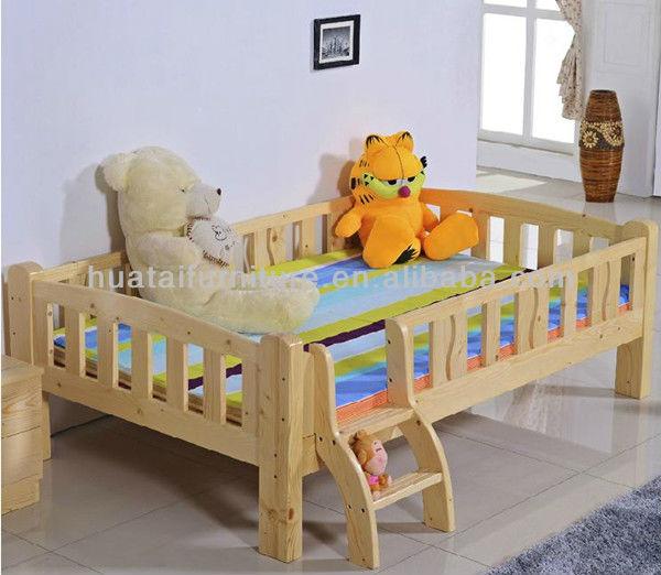Simple design enfants lit pas cher pin massif bois enfants lit meubles lots d - Lit bois massif pas cher ...