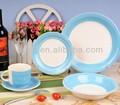 pcs 30 handpainting de cerámica de color azul claro y blanco cena conjunto