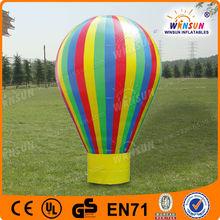 8m height rainbow air hot balloon