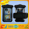 Inflatable mobile phone pvc waterproof bag for iphone5 with armband
