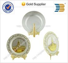 High quality custom design gold and silver tourist souvenir plates