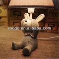 zakka candeeiros de mesa moderno presentes artesanato estatueta coelho