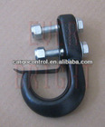 Black and chrome forged steel tow hook