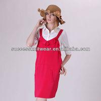 YIGELILA Fashion Bandage Suspender Skirt Ladies Two piece Suit Dress 6321
