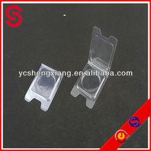 pet pvc clear plastic folding box/make up box powder puff box