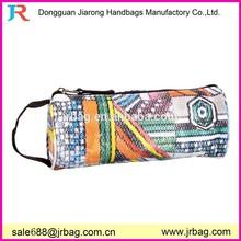 Durable colorful zipped school canvas pen bags