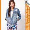 2014 womens fashion long sleeve stylish jean jacket (HYWJ138)