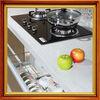 white galaxy quartz countertop for kitchen cabinet counter top in bullnose edge
