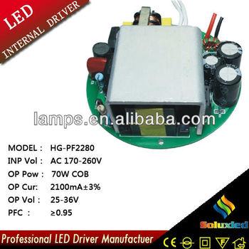 HG-PF2280 LED driver lamps driver 70W COB