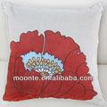 arancione piazza applique floreali cuscino copertura della sedia