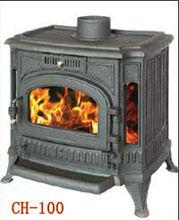 Cast iron fireplace with ceramic & side windows