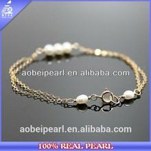 7-8mm 2lines pearl friendship bracelets for girls,Popular Cheap Pearl Alloy Bracelets For Girls