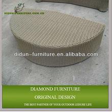 simple design outdoor synthetic rattan ottoman