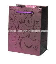 Luxury UV varnishing shiny Paper shopping bag
