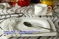 0 vajilla de cerámica de porcelana china de hueso taza con tapa de la placa de la cena de navidad de regalo decoración de la caja