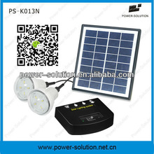 Wall mounted solar light with 2pcs LED Lights & phone charger for indoor & outdoor