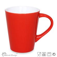 round shape ceramic stoneware handpainting and color glaze coffee mug