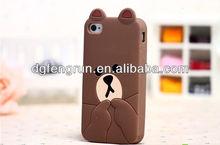 Hot fashion bear shape silicone mobile phone case