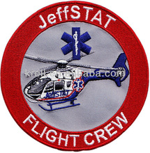 hot sale custom flight crew embroidered patch/badge