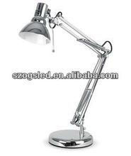 Utility & Elegant Fully Adjustable Silver Desk Light