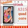 10 inch tablet pc quad core tablet pc A31s