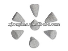 Ceramic polishing media for vibratory finishing machine