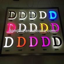 Advertising Font Light Acrylic LED 3d Letters MJ-201