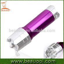 Outdoor AAA battery self-defense aluminum 12led flashlight