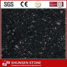 Sparkle black color quartz stone floor tiles