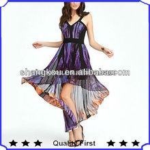 stunning print and glamorous billowing drape plus size clothing women dress fashion