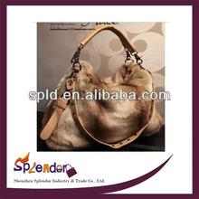 women's velvet fashionable rabbit fur bag china ladies handbag manufacturers