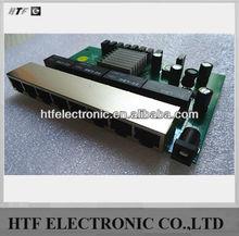 mini design OEM 8 Port 10/100/1000M unmanaged 12V Power full duplex fiber optic Network iptv Ethernet SWITCH PCBA Module