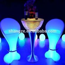 Waterproof SZ-C54108 luminous led chair/ Modern bar chair
