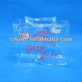 pvc transparente embalagensplásticas saco com reforço lateral
