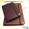 Brown / Tan Color Leather Book Cover With Elastic Band For Teacher And Executive