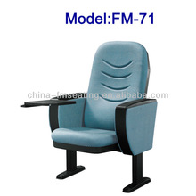 FM-71 Floor mounted tip up stadium folding chair with arms