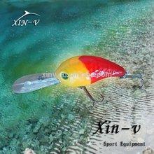 2014 latest led crank fishing lure,bass fishing pesca squid jig