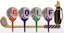 Large Golf Word Ball Tee Clubs Bag embroidery patch applique