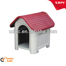 Plastic big house fo dog with risver vent
