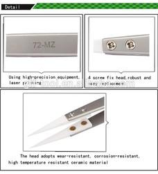 BEST-72-MZ Stainless steel High Temperature Resist Ceramic Tweezers