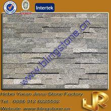 Green Stacked Stone Veneer Wall Cladding