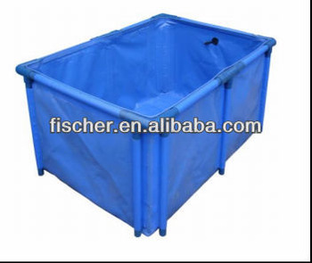 2014 high quality Hot selling Aquarium foldable koi fish tank,flexible fish tank,high quality foldable fish tank