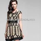 High Quality designer fashion Baroque printing vintage dress for women
