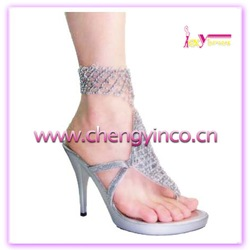 genuine leather sandals with knick-knack