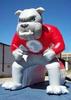 Customized inflatable amusement tunnel, PVC inflatable high school bulldog tunnel