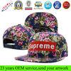 2013 wholesale fashion floral flat brim custom snapback hat