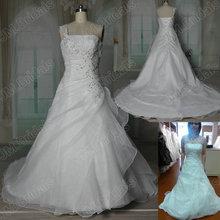 Image réelle HY009 organza plissé une épaule robes de mariée new fashion 2013