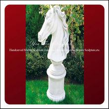 Natural Marble Decorative Horse Head Decor White