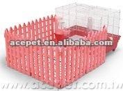Cage w/Modular fence for Rabbit, Ferret & Chinchilla