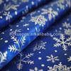 100% polyester snowflake printed satin fabric for christmas decoration